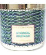 Bath and Body Works Mineral Springs Blue & Green  Woven 3 Wick Candle 14... - $26.81