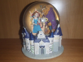 Extremely Rare! Walt Disney Beauty and the Beast in Castle Snowglobe Statue - $346.50