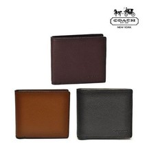 NWT COACH Mens Double Billfold Sport Leather Wallet Money Coin - $75.24+