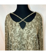 High Low Cotton Blend Long Sleeve Boho Tunic L - $24.00