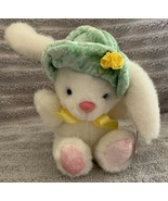 "Vintage MTY INTERNATIONAL Soft Expressions 6"" BUNNY RABBIT PLUSH Green H... - $25.99"