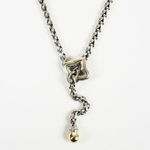 "David Yurman Sterling Silver 18K Gold ""Quatrefoil Chain"" Necklace - $1,005.00"