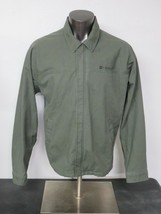 Mens Hurley Full Zip Jacket Green Army Armed Forces Style Size Large L C... - $19.79