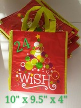 "24 Christmas Tree Wish 10"" Reusable Shopping Grocery Treat Party Gift Ba... - $35.00"