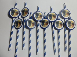 Puppy Dog Pals, chevron straws/ party favors/ drinks  SET OF 10 - $7.91
