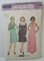 Simplicity Pattern 6615 Miss Size 16 1/2 Dress 2 Lengths Sleeveless Long... - $12.86