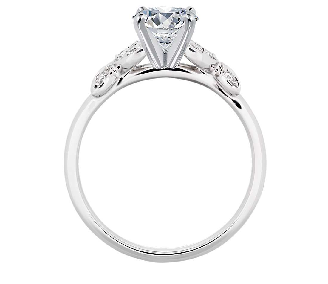 Round Cut Moissanite 925 Sterling Silver With 1.00CT Colorless Engagement Ring