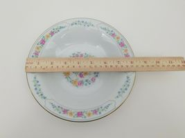 Liling Fine China Cereal Soup Bowls Set of 4 Yung Shen White Roses Keepsake 8.25 image 11