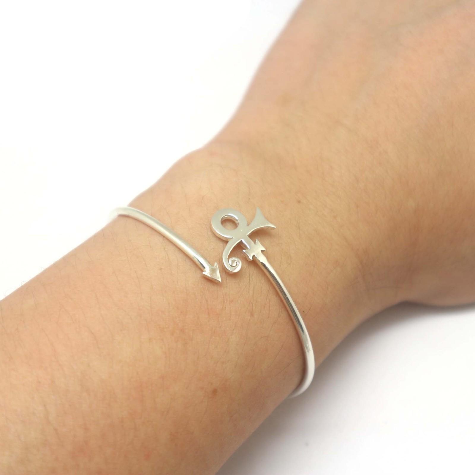 Sterling Silver Prince Roger Nelson Love Symbol Bracelet Bangle