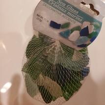 Sea Glass, Decorative Accent Gems, Green Blue White Stones, 11oz bag image 3