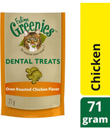 FELINE GREENIES Dental Treats for Cats Oven Roasted Chicken Flavor 2.5 oz. - $5.50+
