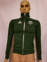 Adidas Portland Timbers Army MLS Soccer Green Jacket Size Small Full Zip - $31.35