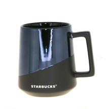 Starbucks Black Half Matte Half Glossy Ceramic Stackable Coffee Mug Cup ... - $33.25