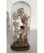 Antique Oddity Unique Victorian Display Oval Glass Dome Celluloid Sailor... - $148.50