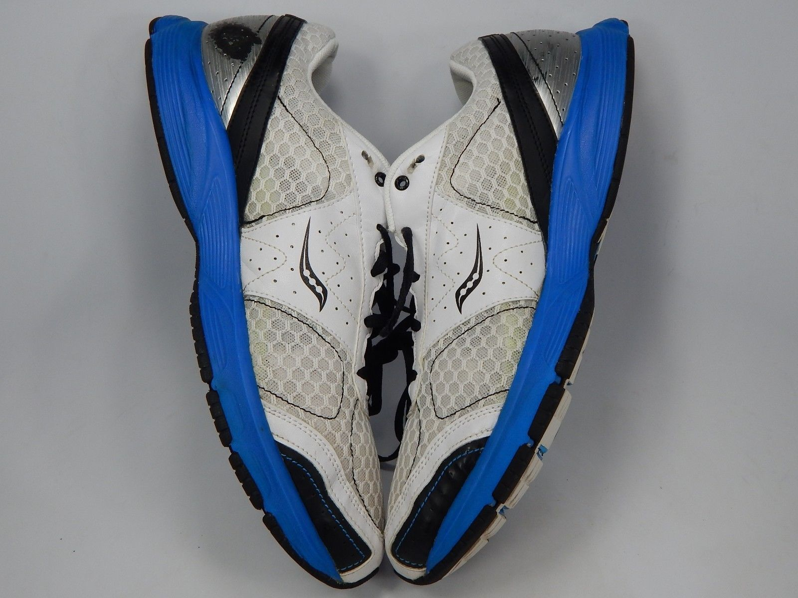 Saucony Outduel Size US 13 M (D) EU 48 Men's Running Shoes White Blue 25146-1