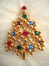 EISENBERG ICE CHRISTMAS TREE BROOCH PIN BRIGHT AND COLORFUL - $29.99
