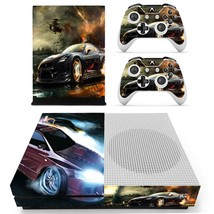 Car Wallpaper decal xbox one S console and 2 controllers - $15.00