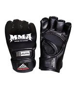 PANDA SUPERSTORE Cool Black Adult Half-Finger MMA Fighting Mitts Trainin... - $37.44