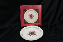 """Lenox Winter Greetings Xmas Dessert Platter 12"""" Cardinal - $41.65"""