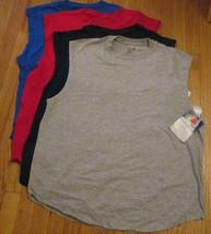 Men's Muscle Shooter T-Shirt Fruit of The Loom Medium 6 pc 4 color 100 %... - $29.90