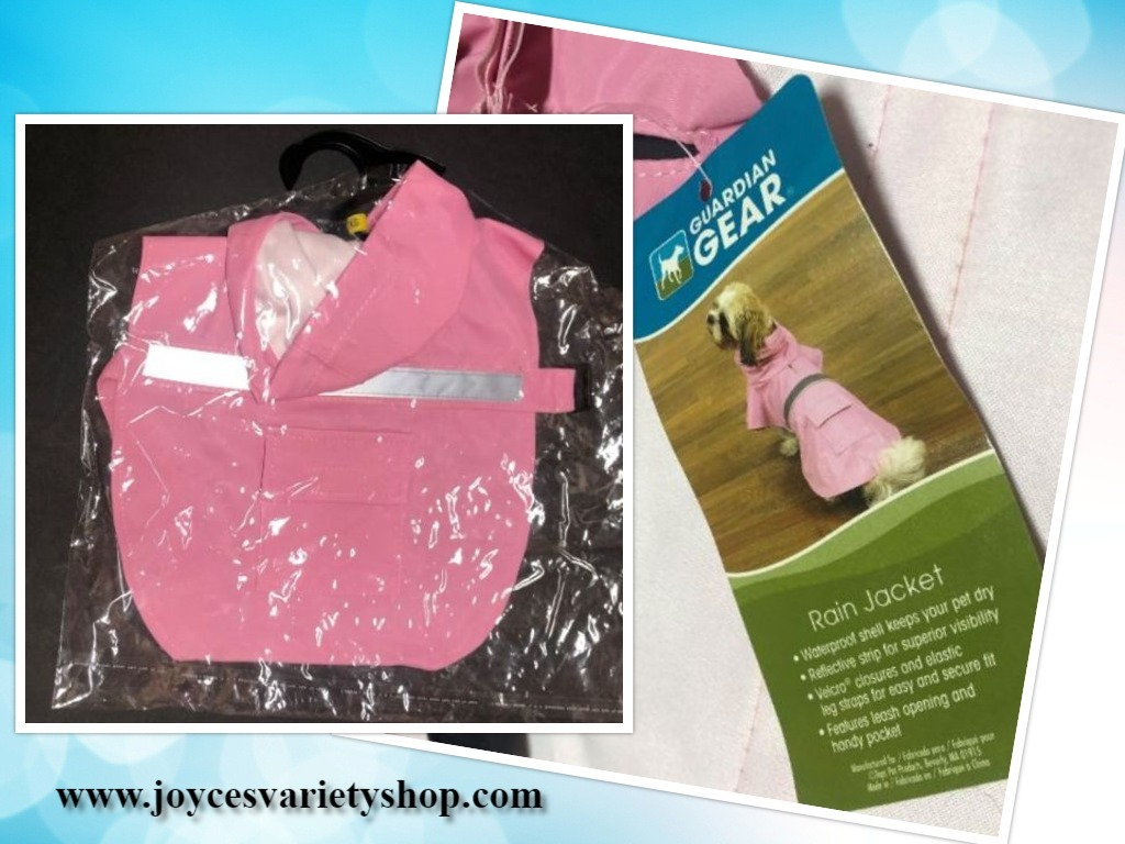 Primary image for Guardian Gear Dog Rain Coat Jacket Pink Various Sizes Hoodie Pocket