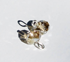 Interchangeable Crystal Earring Charms/ Champagne Crystal Bead Pendants/... - $8.00