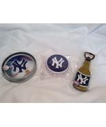 NEW MLB NY Yankees Party Bottle Opener & Coaster Set  - $34.65
