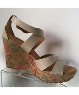 NEW Korks by Kork-Ease Natural Cork Platform Wedge Sandals (Size 9 M) - $69.95