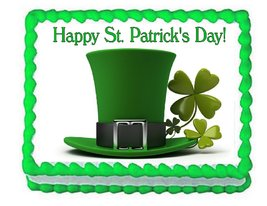 St. Patrick's Day Holiday Edible Cake Image Cake Topper - $8.98+