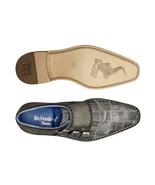 New Men's Belvedere Hurricane Gray Crocodilus Italian Calf Dress Shoes - $406.94