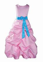 Per Bambina Da Festa Damigella Vestito Per Spettacolo 1-13 Y Rosa+Fascia image 3
