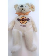 Hard Rock Cafe TOKYO Peter Beara Gold Ribbon 2001 Plush Beanie Bear NWT - $30.99