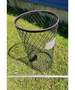 Home Treasure Antique Black Metal Mesh Basket Can Metalware Decor Label ... - $94.99