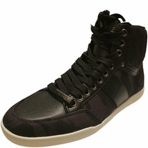 Guess Men's High-top Fomo Sneakers Black Camouflage 7.5 M MSRP 90 New - $57.71