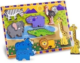 Melissa & Doug Safari Chunky Puzzle - $10.00