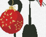 Christmas Meow cat cross stitch chart AAN Alessandra Adelaide Needleworks
