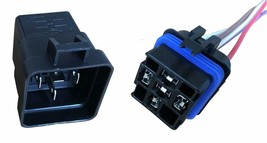 """Change-Over Relay 5-Pin Terminal 12 Volt 40 Amp and 12"""" Connector Pigtail Set image 1"""