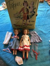 VINTAGE IDEAL 1965 Original Pepper & Penny Brite Doll Clothes & Case HtF - $98.99