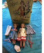 VINTAGE IDEAL 1965 Original Pepper & Penny Brite Doll Clothes & Case HtF - $98.99