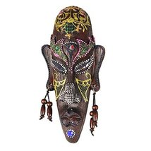 George Jimmy Small Carved African Mask Wall Hanging Africa Decor Wall Ar... - $25.37