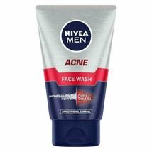 NIVEA Men Acne Face Wash for Oily &Acne Prone Skin, Fights Oil & Dirt, 100g - $12.22