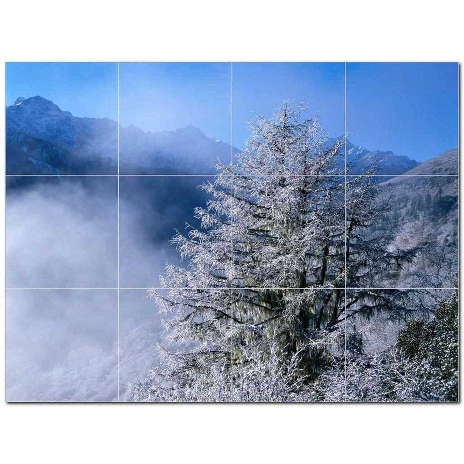 Primary image for Winter Picture Ceramic Tile Mural Kitchen Backsplash Bathroom Shower BAZ406422