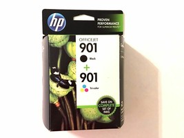 901 BLACK & COLOR ink jet HP - printer Officejet 4500 J4680 J4550 J4580 ... - $69.25