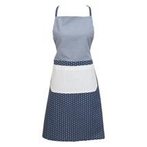 Blau Weiss Sterne Gingham Gepunktet Spitze 100% Cotton Schürze 70cm X 85cm - $28.32