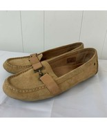 UGG AVEN SUEDE Driving MOCCASIN Loafer Brown Slip On Shoes Womens Size 8.5 - $39.57