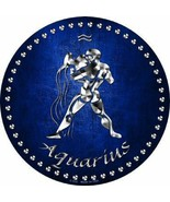 Aquarius Astrological Sign   Jan 20 to Feb 18 Circular Sign - $25.15