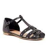 Dv By Dolce Vita Womens Zina Stella Manmade Leather Sandal Black Size 6  US - $660,26 MXN