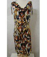 TORY BURCH 100% Silk Multicolored Abstract Print Dress NWOT S - $179.99