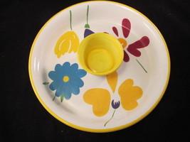 "Colorful Pfaltzgraff ""Flourish"" Large Two-Piece... - $57.97"