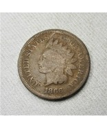 1866 Indian Cent Coin AG772 - $34.77
